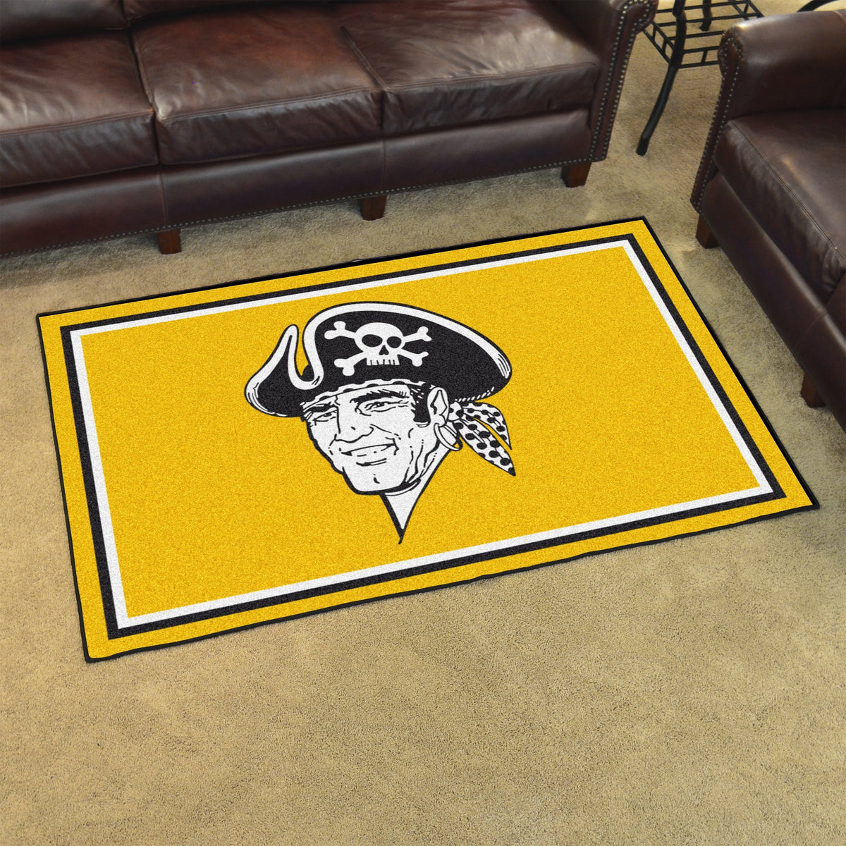MLB Retro - 4' x 6' Rug MLB Retro Mats, Plush Rugs, 4x6 Rug, MLB, Home Fan Mats Pittsburgh Pirates