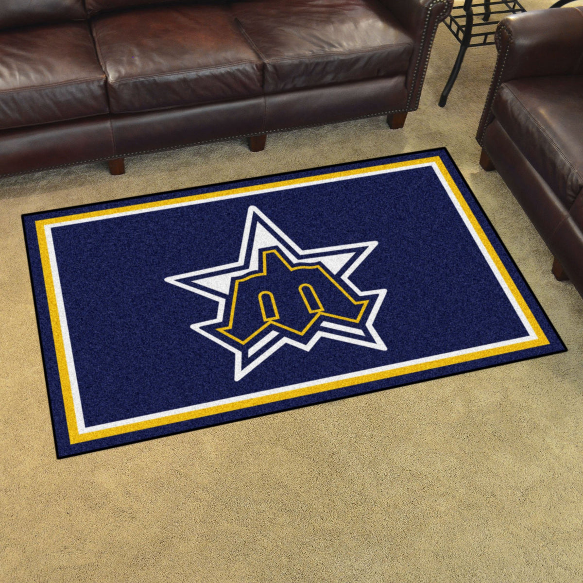 MLB Retro - 4' x 6' Rug MLB Retro Mats, Plush Rugs, 4x6 Rug, MLB, Home Fan Mats Seattle Mariners