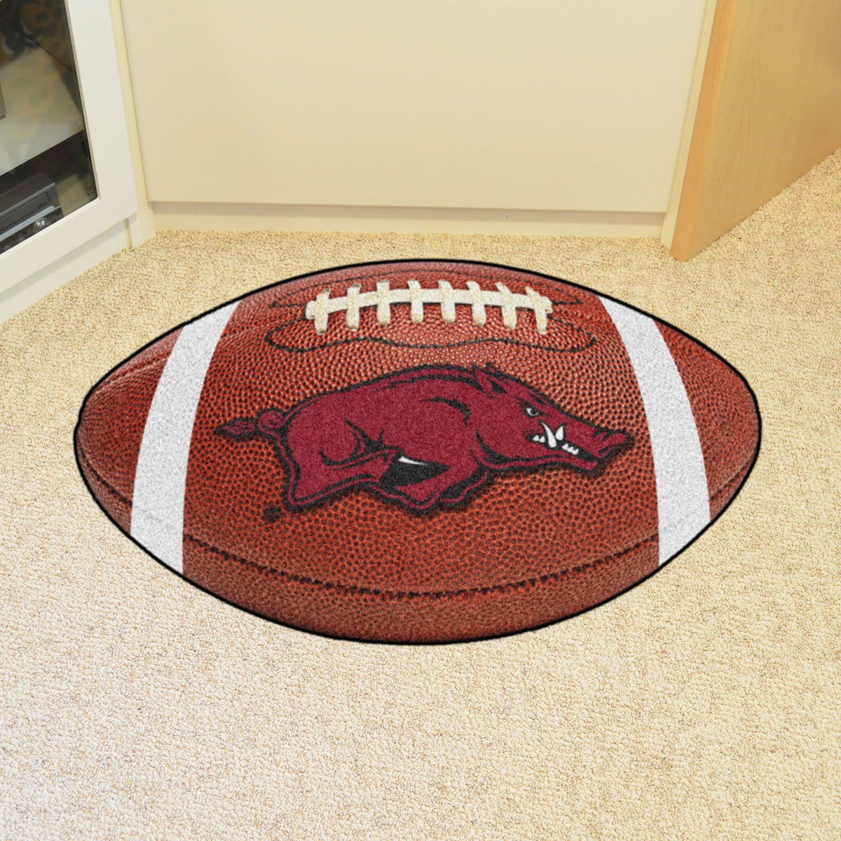Collegiate - Football Mat: A - K Collegiate Mats, Rectangular Mats, Football Mat, Collegiate, Home Fan Mats Arkansas