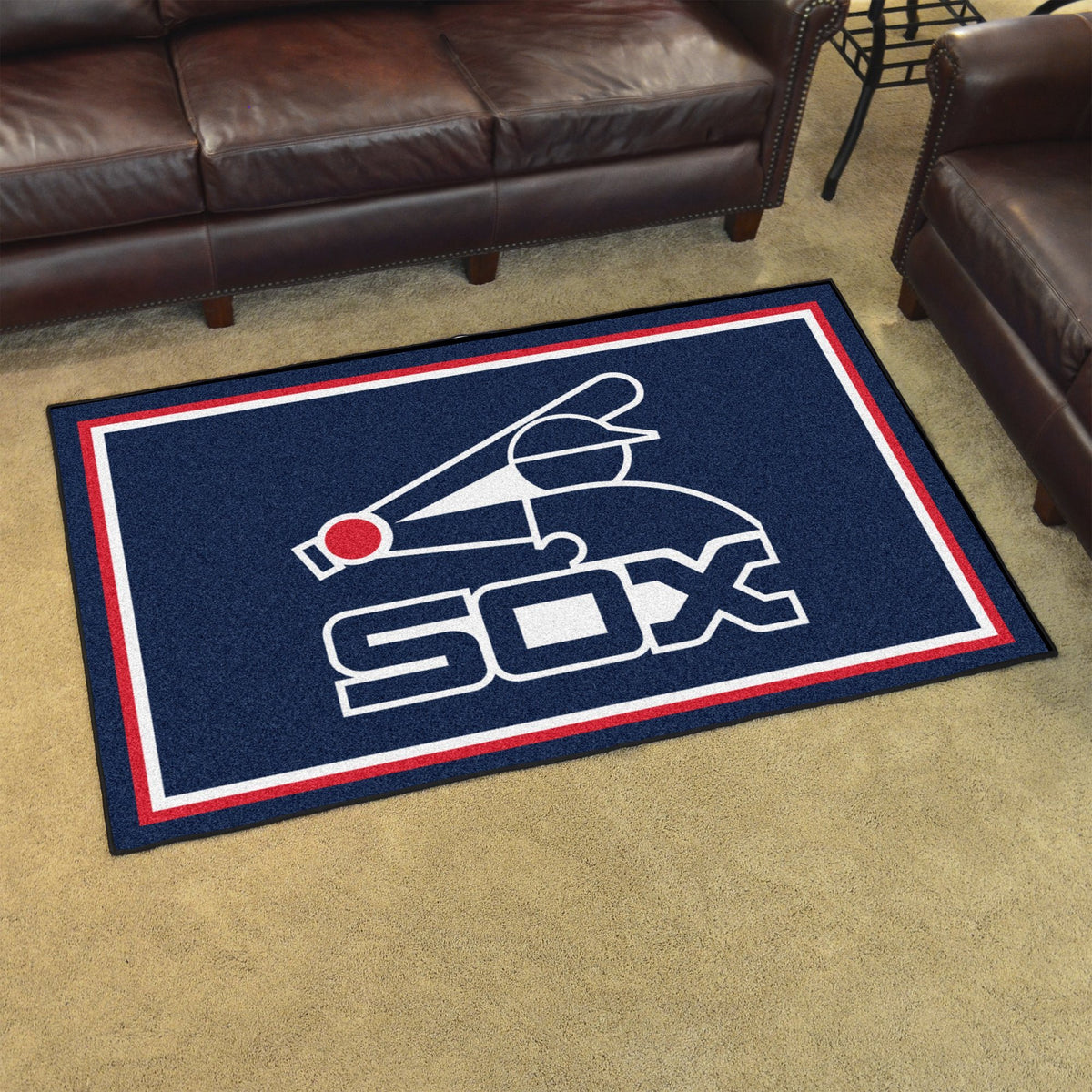 MLB Retro - 4' x 6' Rug MLB Retro Mats, Plush Rugs, 4x6 Rug, MLB, Home Fan Mats Chicago White Sox 2
