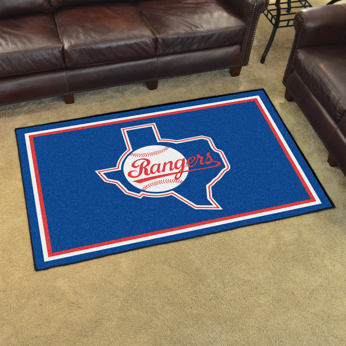 MLB Retro - 4' x 6' Rug MLB Retro Mats, Plush Rugs, 4x6 Rug, MLB, Home Fan Mats Texas Rangers 2