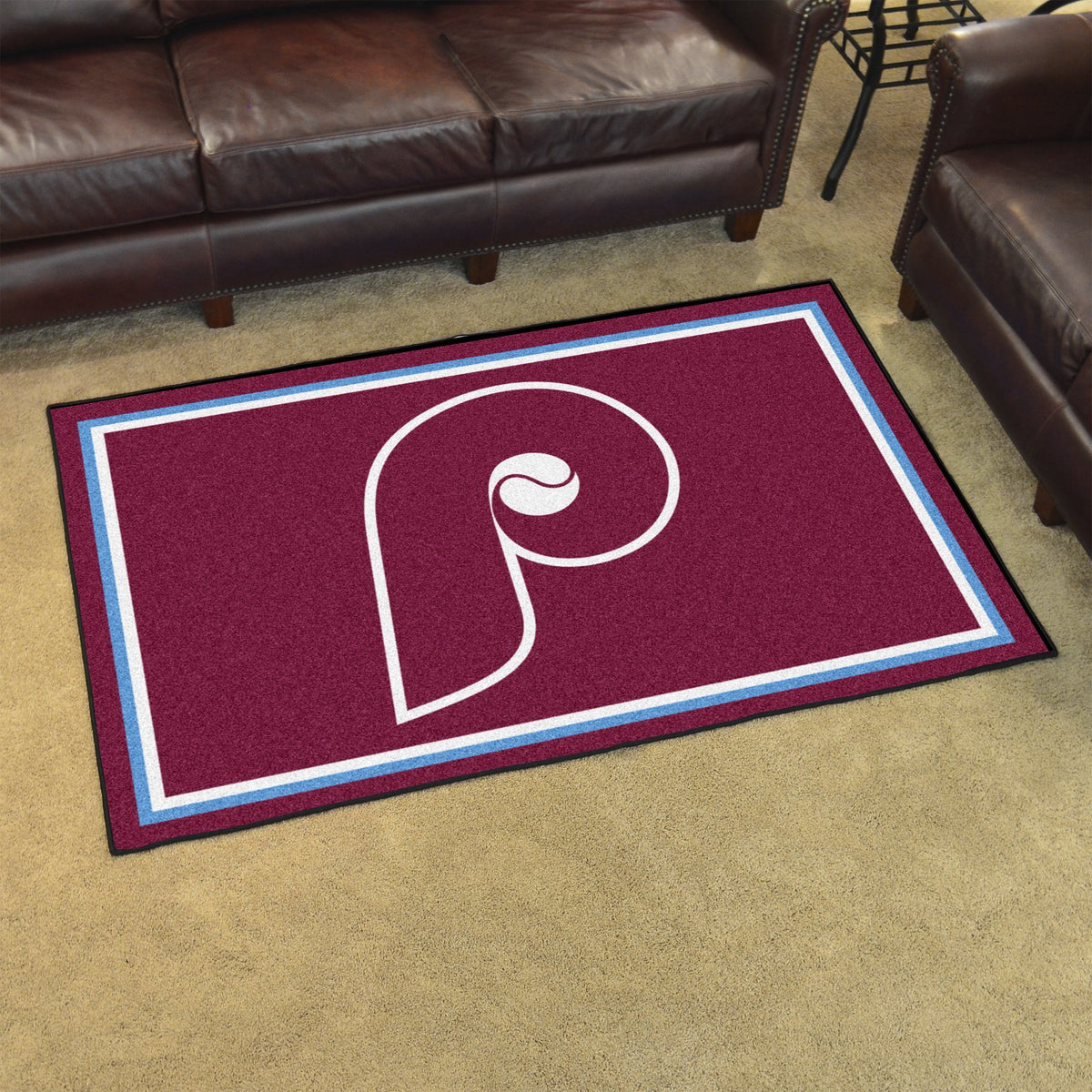 MLB Retro - 4' x 6' Rug MLB Retro Mats, Plush Rugs, 4x6 Rug, MLB, Home Fan Mats Philadelphia Phillies