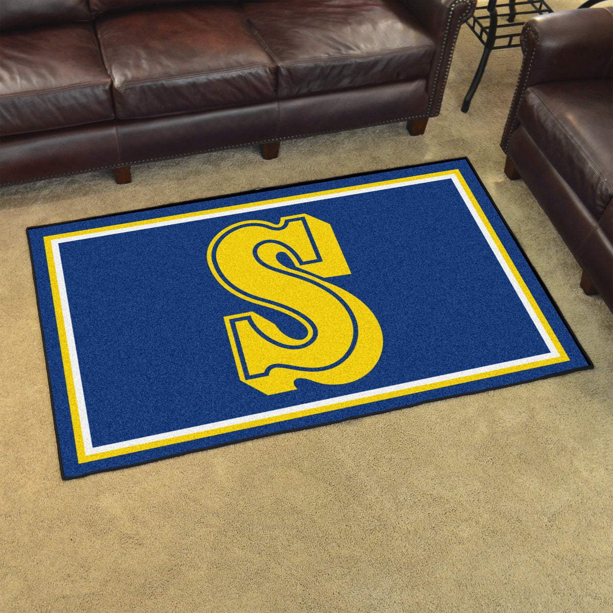 MLB Retro - 4' x 6' Rug MLB Retro Mats, Plush Rugs, 4x6 Rug, MLB, Home Fan Mats Seattle Mariners 2