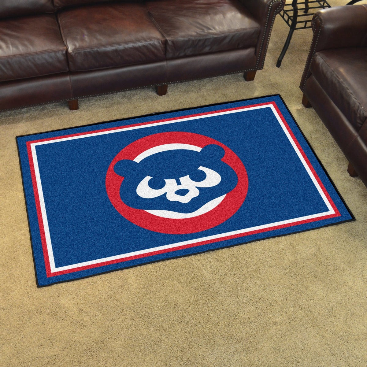 MLB Retro - 4' x 6' Rug MLB Retro Mats, Plush Rugs, 4x6 Rug, MLB, Home Fan Mats Chicago Cubs 2