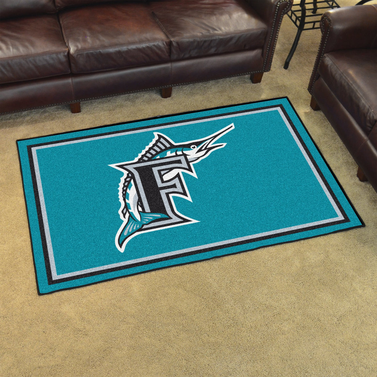MLB Retro - 4' x 6' Rug MLB Retro Mats, Plush Rugs, 4x6 Rug, MLB, Home Fan Mats Florida Marlins