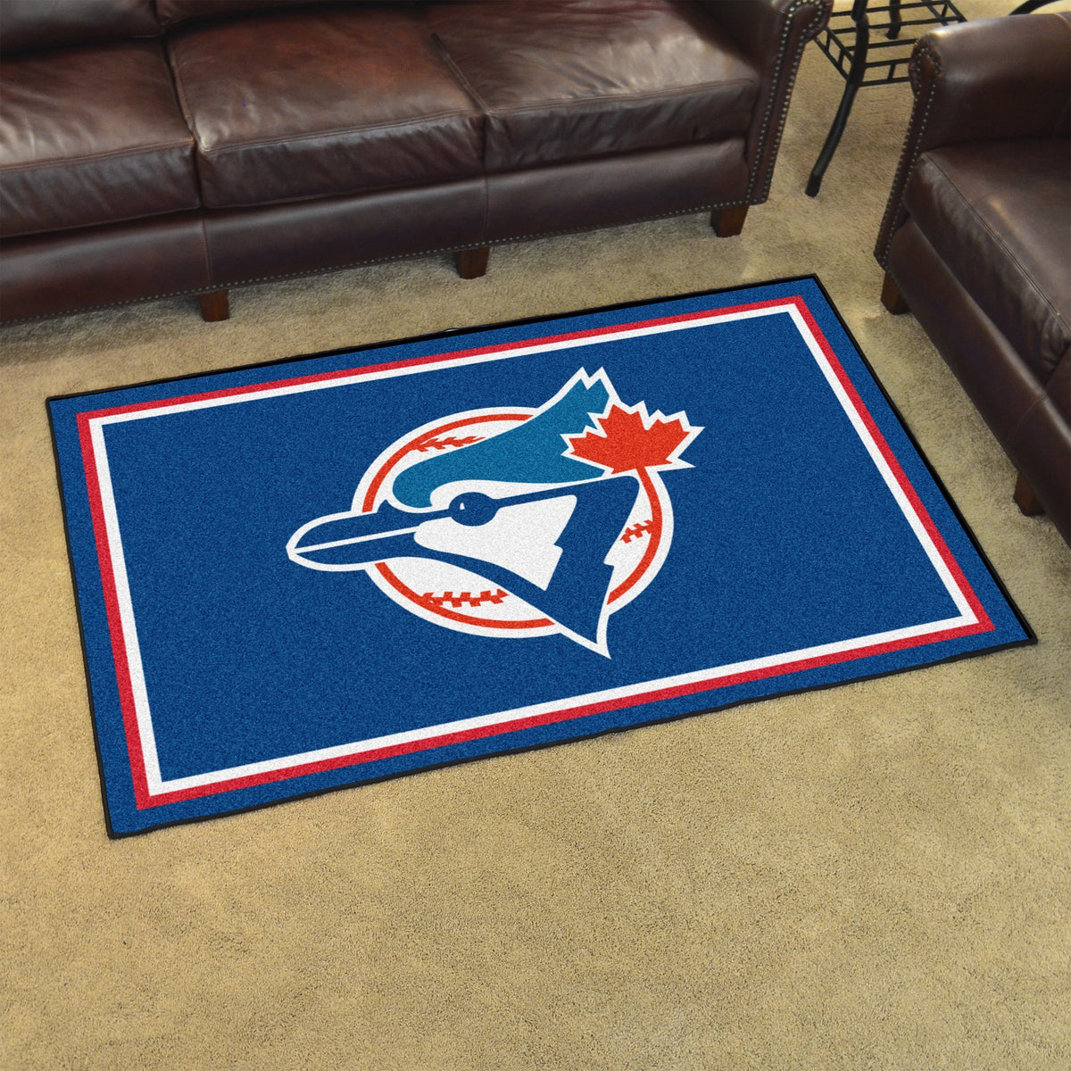 MLB Retro - 4' x 6' Rug MLB Retro Mats, Plush Rugs, 4x6 Rug, MLB, Home Fan Mats Toronto Blue Jays