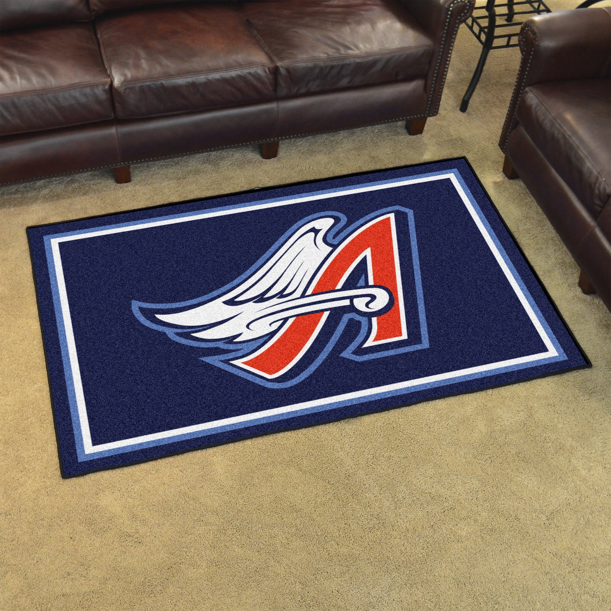 MLB Retro - 4' x 6' Rug MLB Retro Mats, Plush Rugs, 4x6 Rug, MLB, Home Fan Mats Anaheim Angels