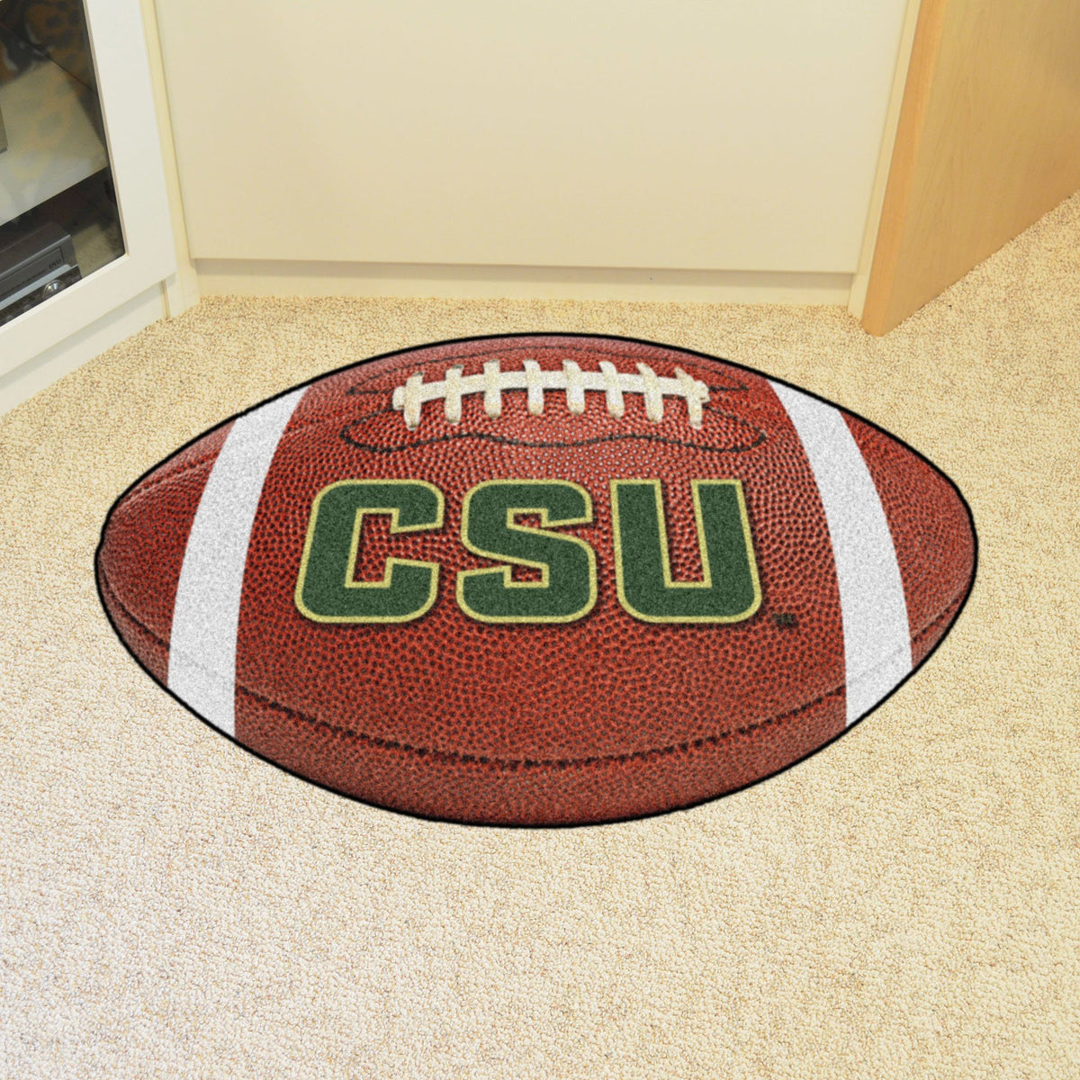 Collegiate - Football Mat: A - K Collegiate Mats, Rectangular Mats, Football Mat, Collegiate, Home Fan Mats Colorado State