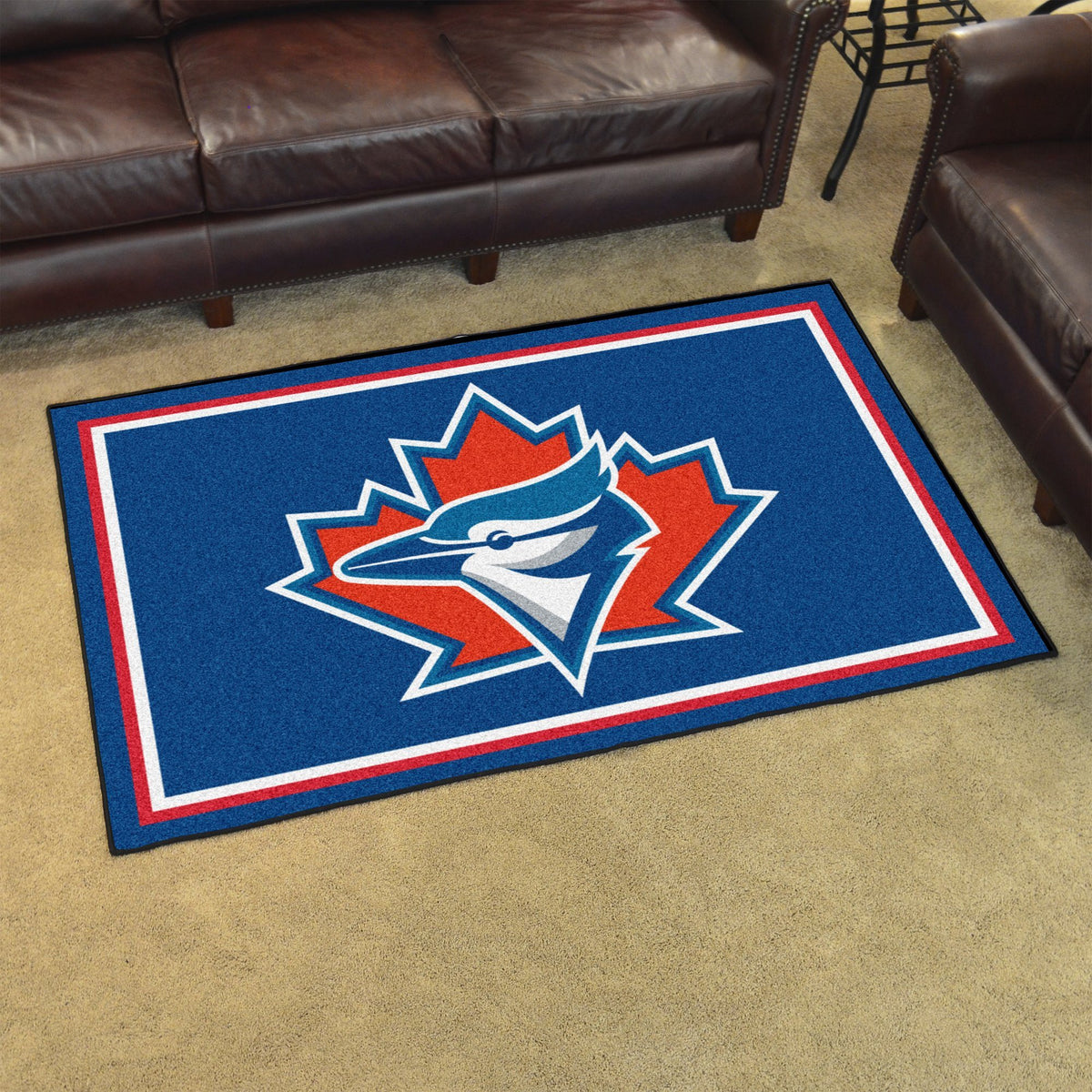 MLB Retro - 4' x 6' Rug MLB Retro Mats, Plush Rugs, 4x6 Rug, MLB, Home Fan Mats Toronto Blue Jays 2