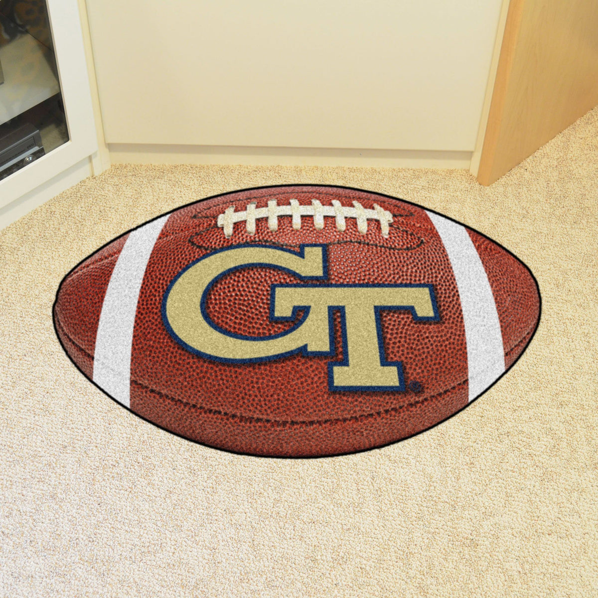 Collegiate - Football Mat: A - K Collegiate Mats, Rectangular Mats, Football Mat, Collegiate, Home Fan Mats Georgia Tech