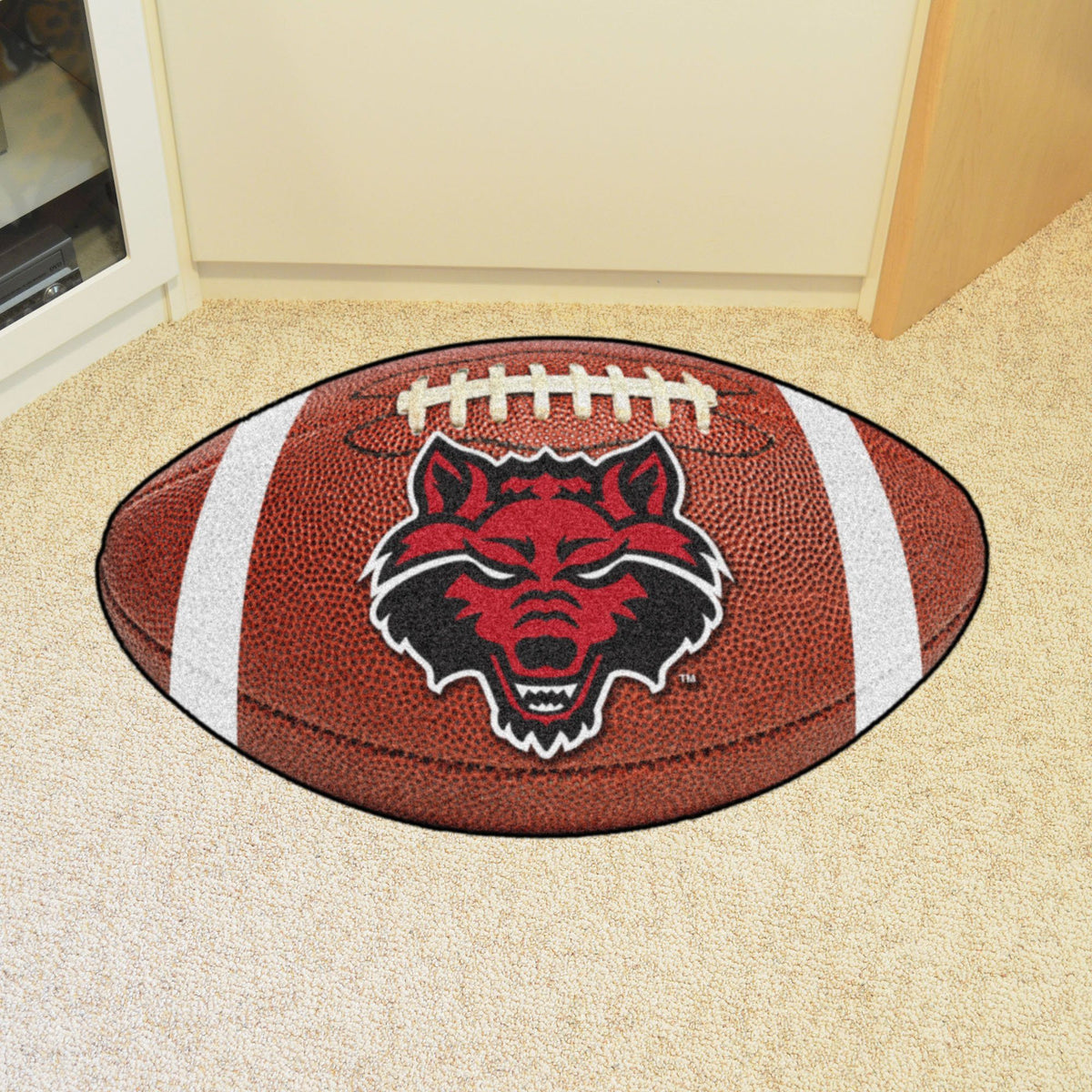 Collegiate - Football Mat: A - K Collegiate Mats, Rectangular Mats, Football Mat, Collegiate, Home Fan Mats Arkansas State
