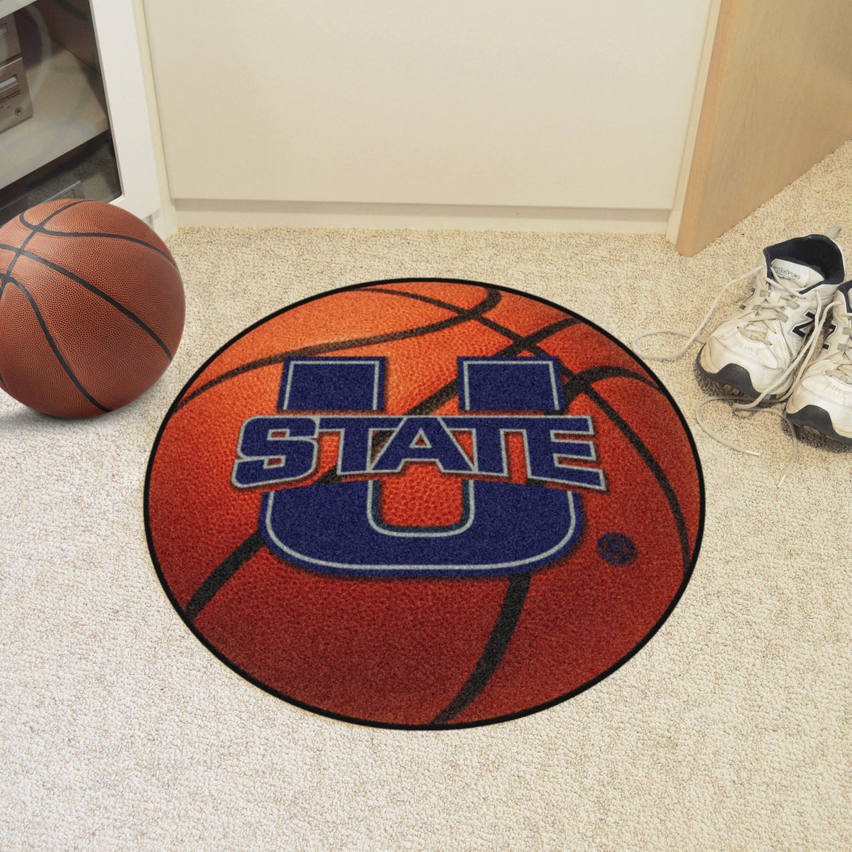 Collegiate - Basketball Mat: T - Z Collegiate Mats, Rectangular Mats, Basketball Mat, Collegiate, Home Fan Mats Utah State