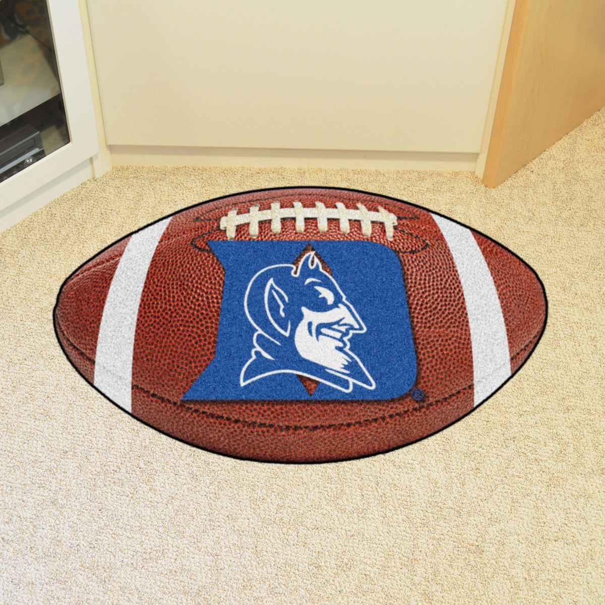 Collegiate - Football Mat: A - K Collegiate Mats, Rectangular Mats, Football Mat, Collegiate, Home Fan Mats Duke
