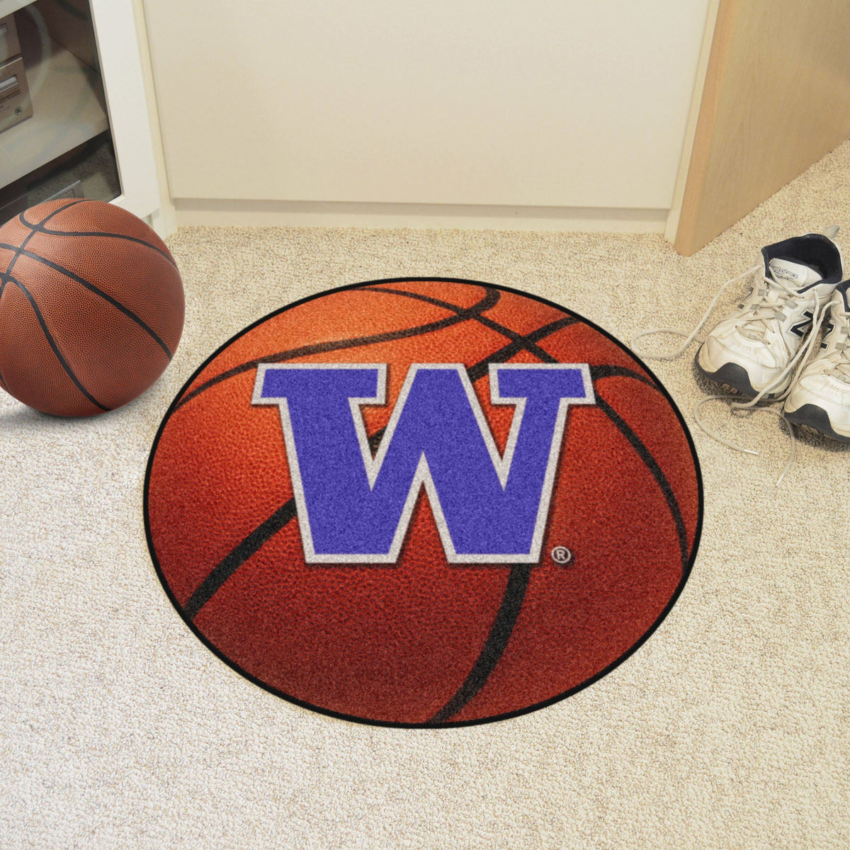 Collegiate - Basketball Mat: T - Z Collegiate Mats, Rectangular Mats, Basketball Mat, Collegiate, Home Fan Mats Washington
