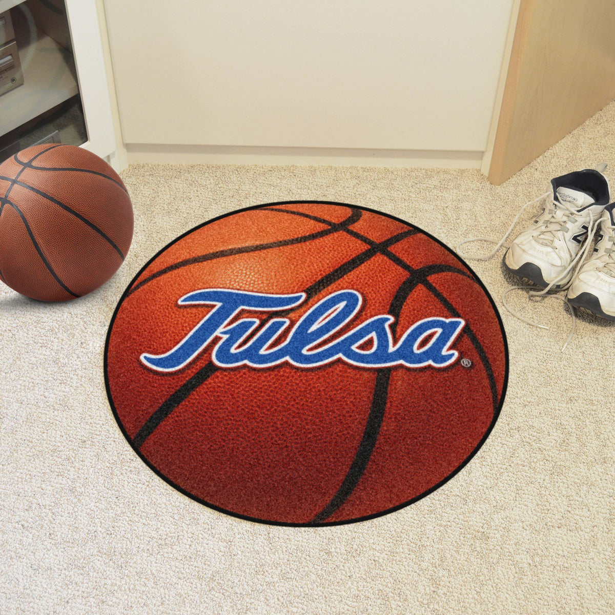 Collegiate - Basketball Mat: T - Z Collegiate Mats, Rectangular Mats, Basketball Mat, Collegiate, Home Fan Mats Tulsa