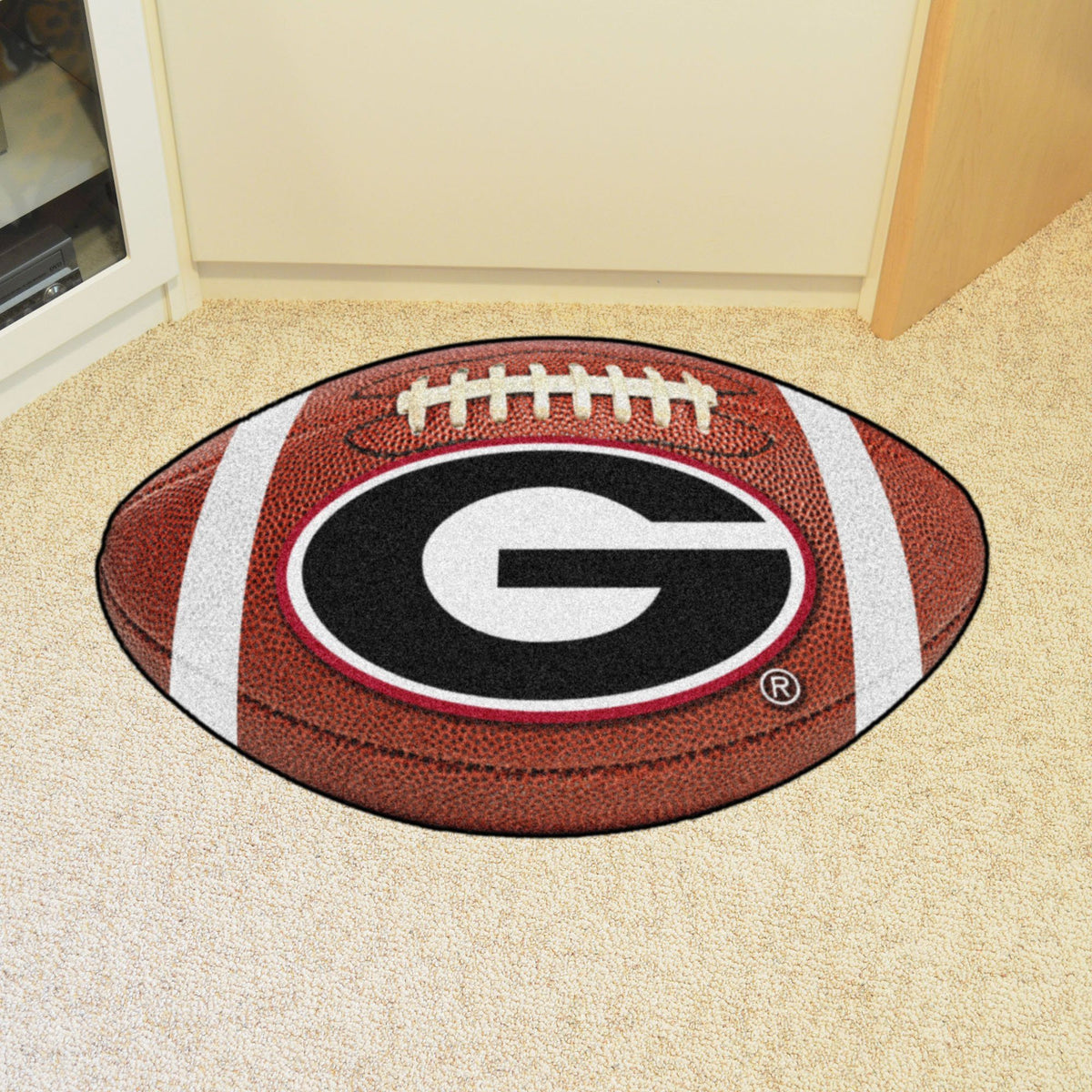 Collegiate - Football Mat: A - K Collegiate Mats, Rectangular Mats, Football Mat, Collegiate, Home Fan Mats Georgia