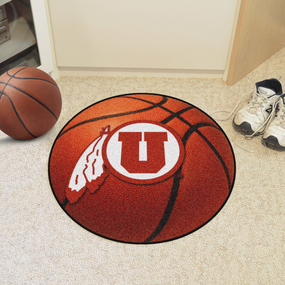 Collegiate - Basketball Mat: T - Z Collegiate Mats, Rectangular Mats, Basketball Mat, Collegiate, Home Fan Mats Utah