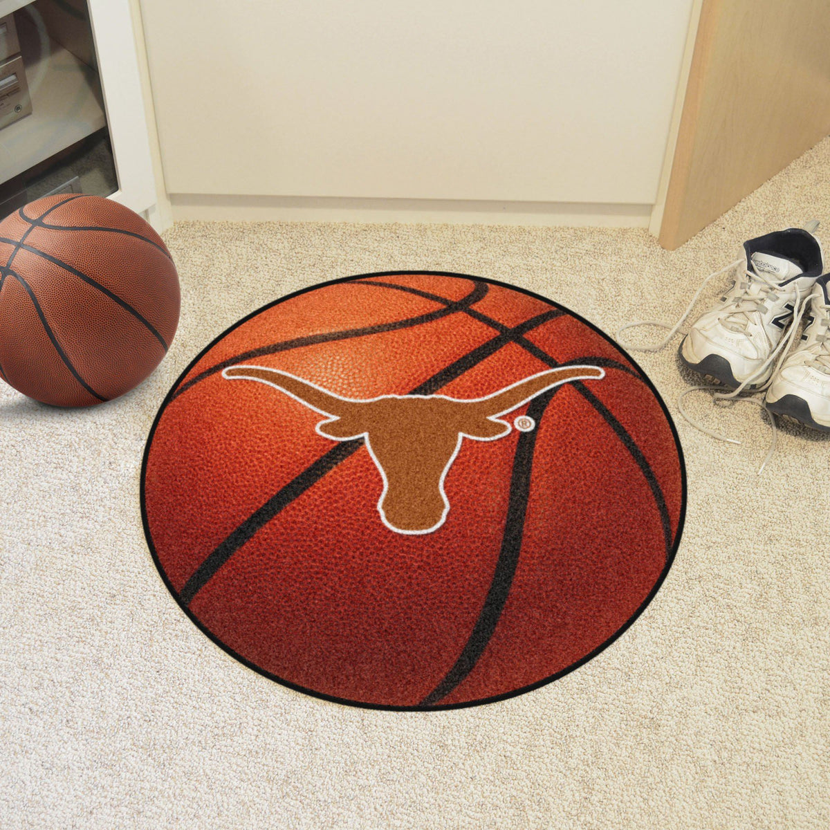 Collegiate - Basketball Mat: T - Z Collegiate Mats, Rectangular Mats, Basketball Mat, Collegiate, Home Fan Mats Texas