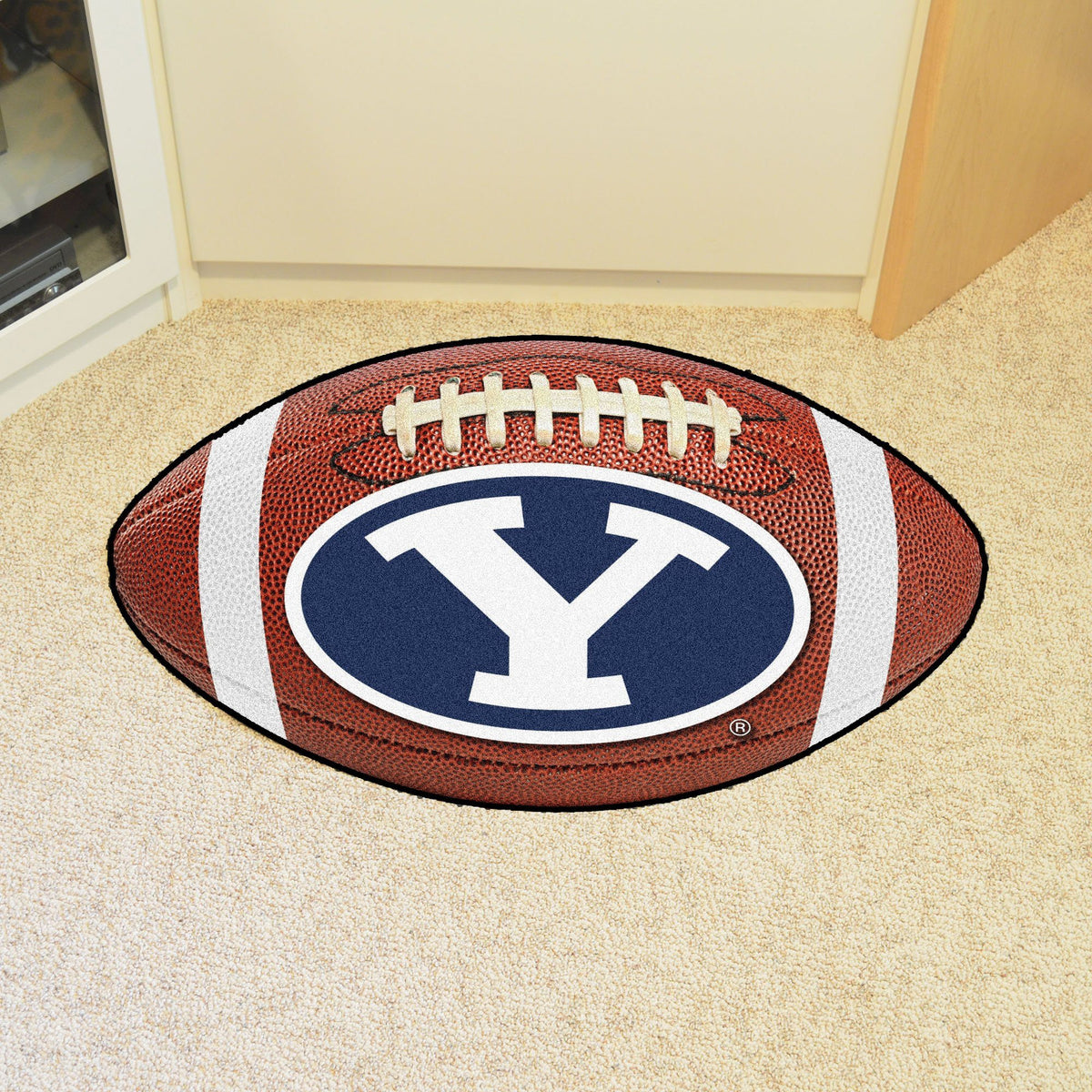 Collegiate - Football Mat: A - K Collegiate Mats, Rectangular Mats, Football Mat, Collegiate, Home Fan Mats BYU