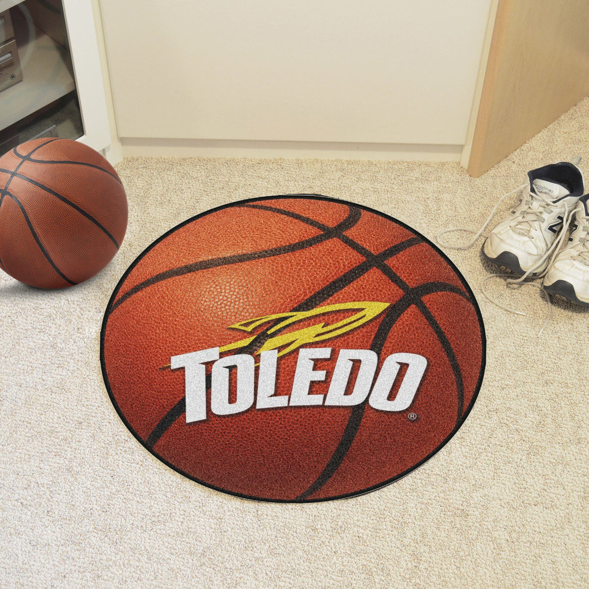 Collegiate - Basketball Mat: T - Z Collegiate Mats, Rectangular Mats, Basketball Mat, Collegiate, Home Fan Mats Toledo