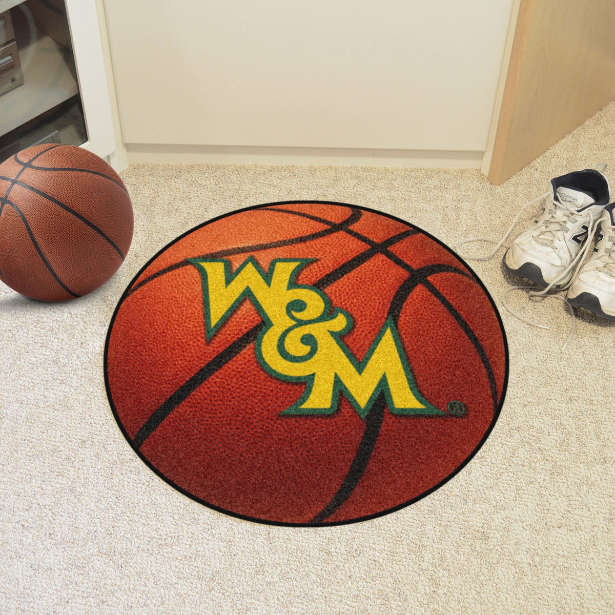Collegiate - Basketball Mat: T - Z Collegiate Mats, Rectangular Mats, Basketball Mat, Collegiate, Home Fan Mats William & Mary