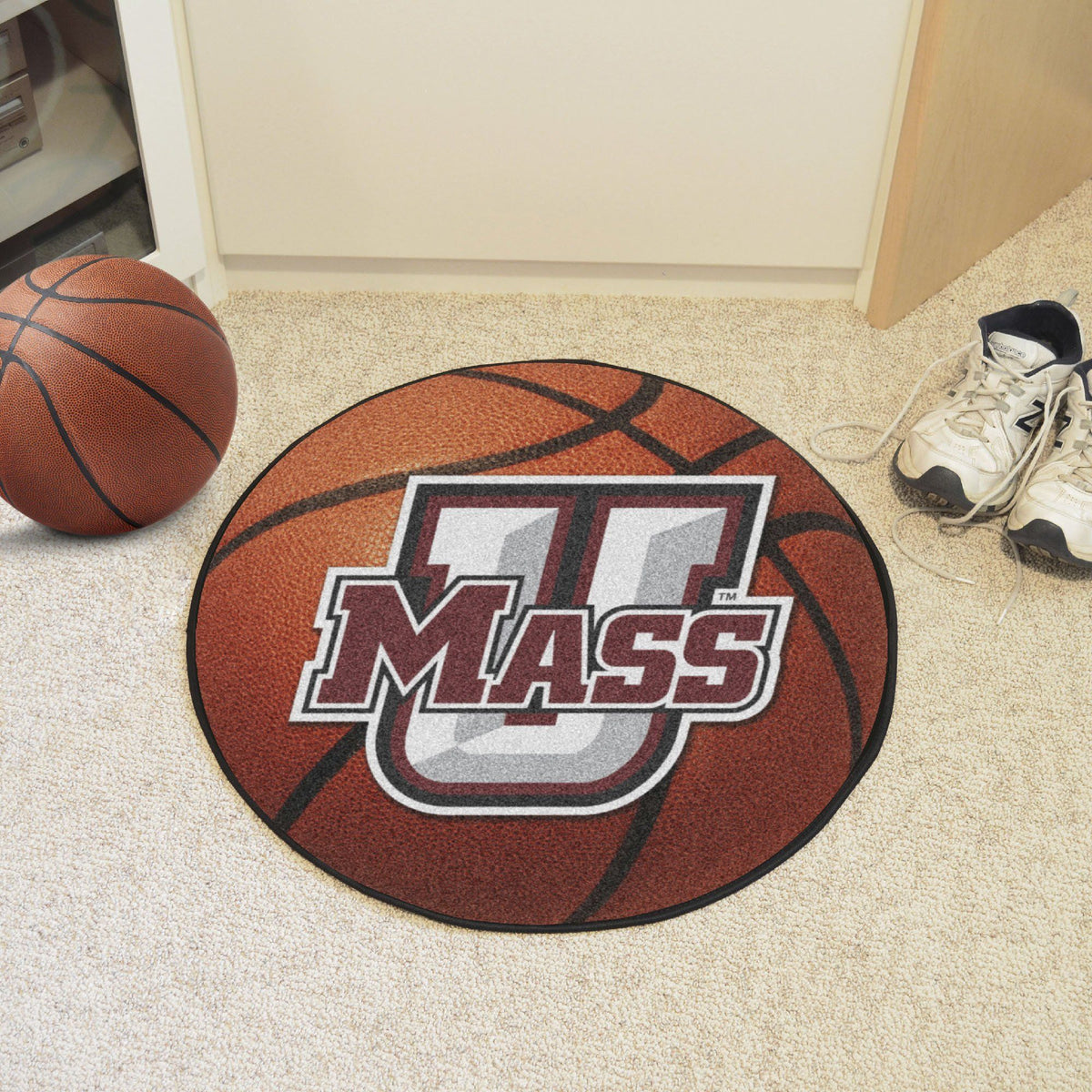 Collegiate - Basketball Mat: T - Z Collegiate Mats, Rectangular Mats, Basketball Mat, Collegiate, Home Fan Mats UMass