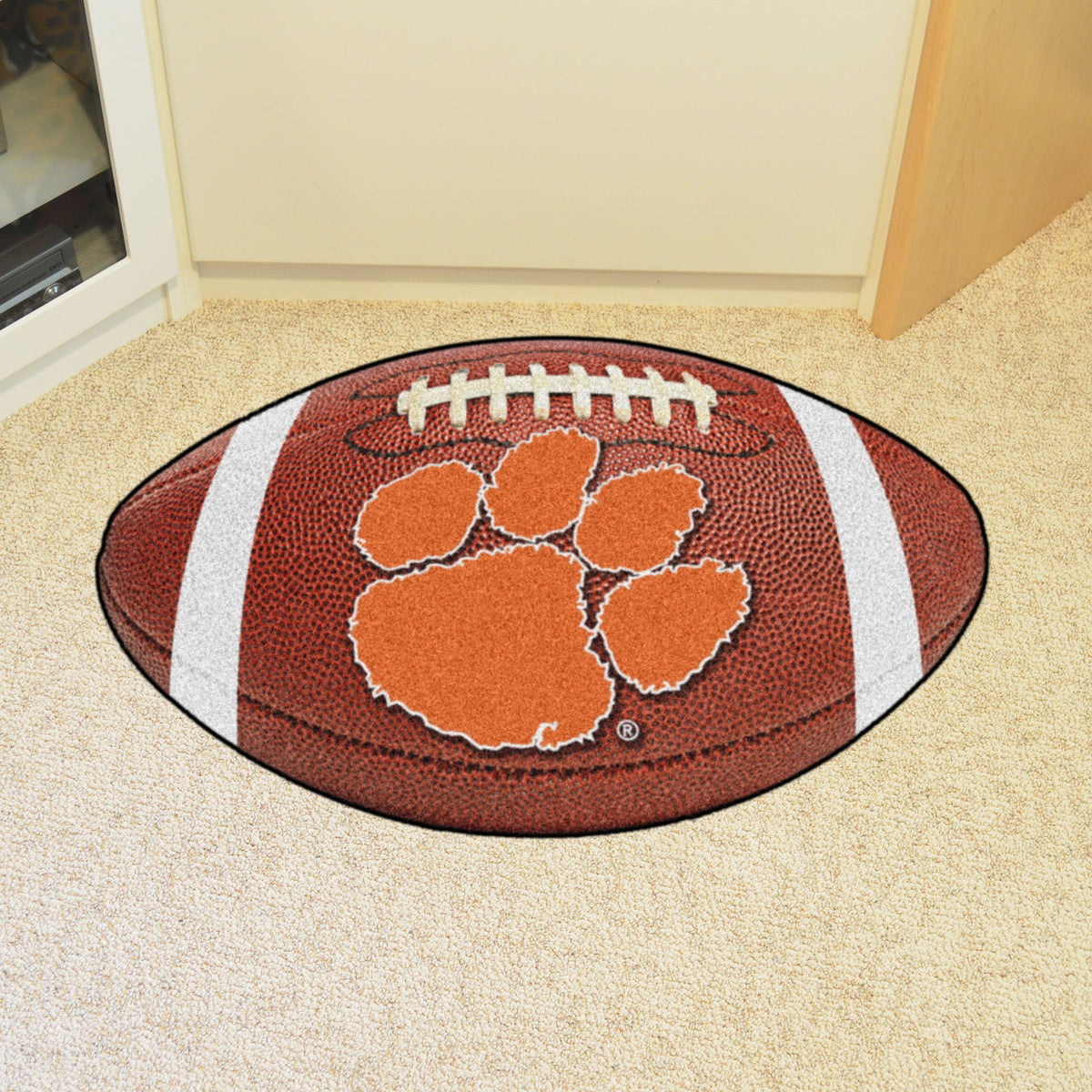 Collegiate - Football Mat: A - K Collegiate Mats, Rectangular Mats, Football Mat, Collegiate, Home Fan Mats Clemson