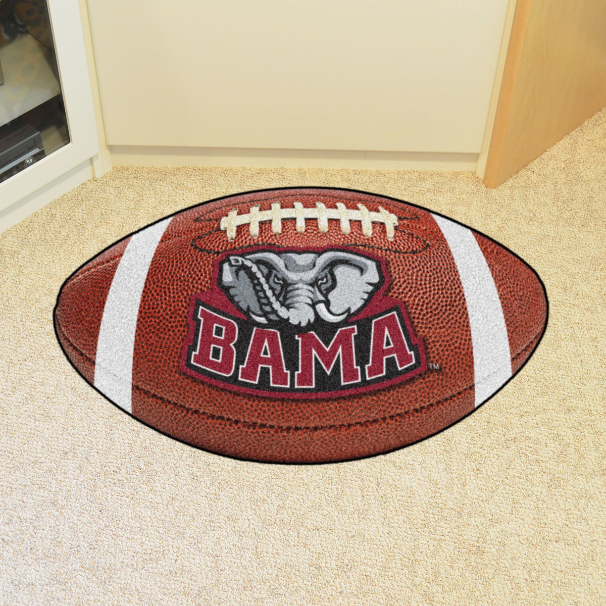 Collegiate - Football Mat: A - K Collegiate Mats, Rectangular Mats, Football Mat, Collegiate, Home Fan Mats Alabama