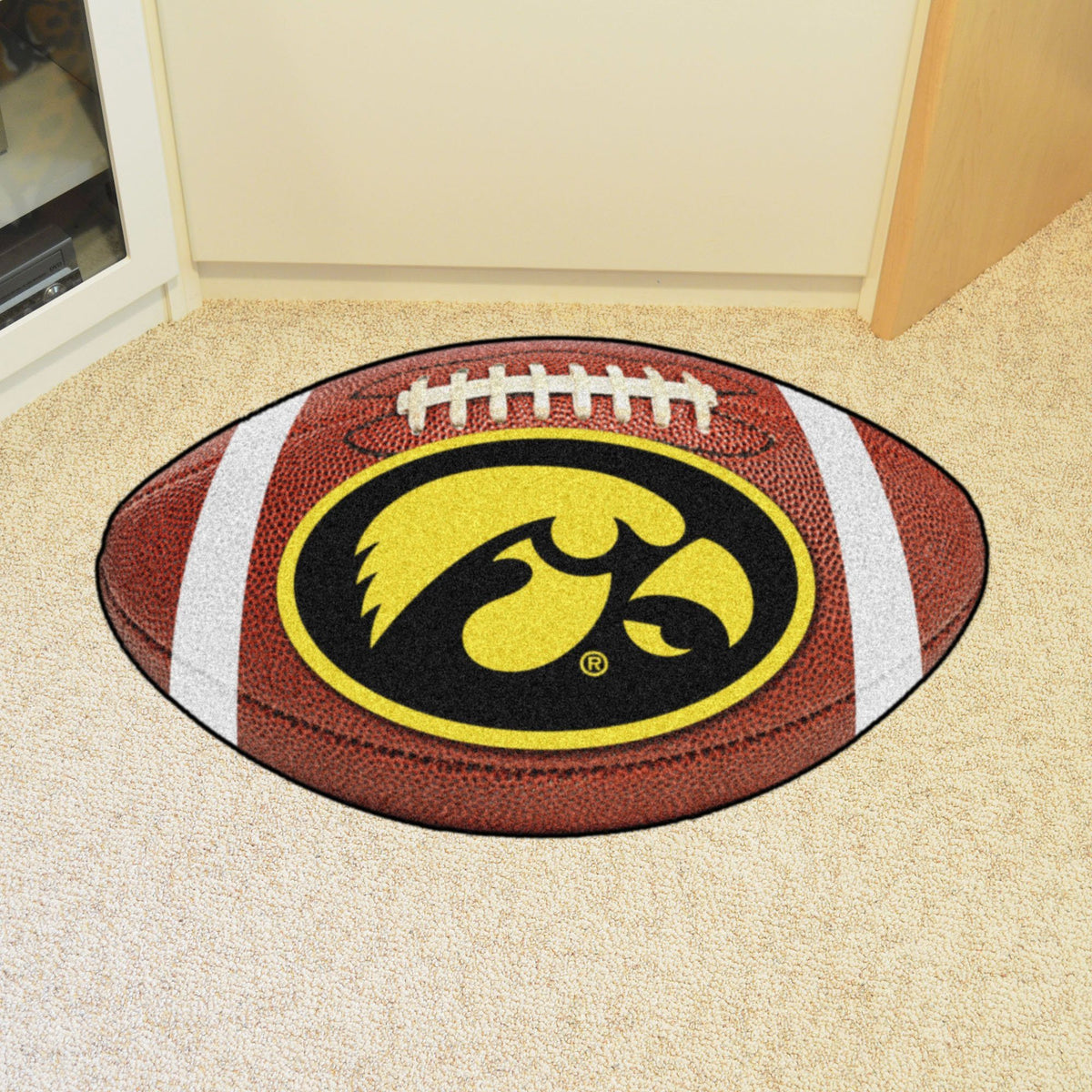 Collegiate - Football Mat: A - K Collegiate Mats, Rectangular Mats, Football Mat, Collegiate, Home Fan Mats Iowa