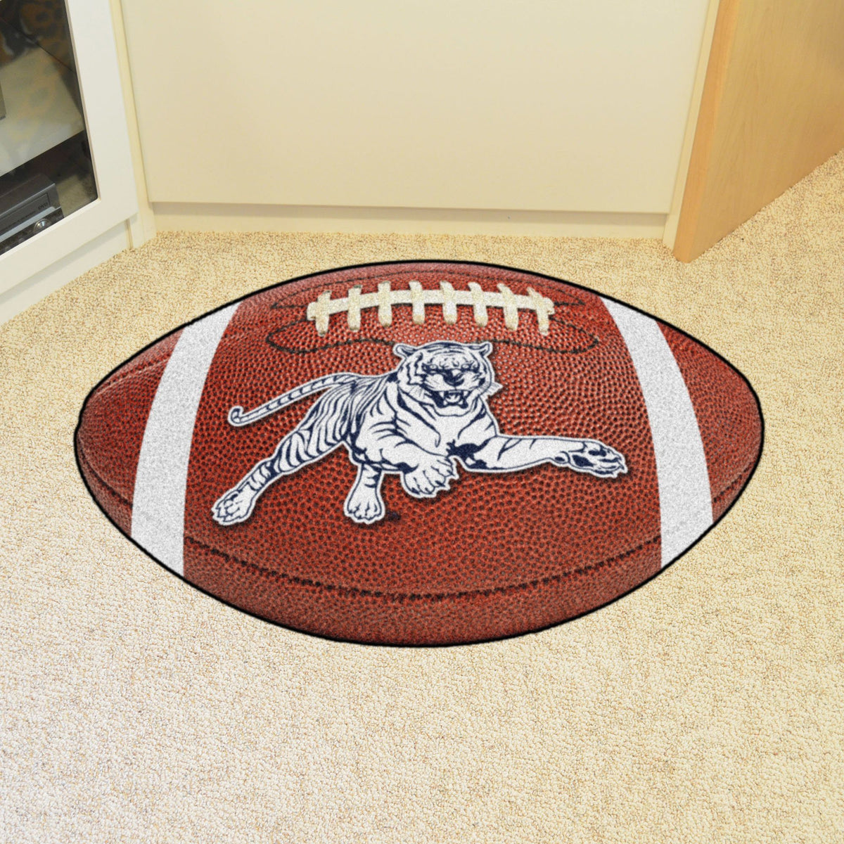 Collegiate - Football Mat: A - K Collegiate Mats, Rectangular Mats, Football Mat, Collegiate, Home Fan Mats Jackson State