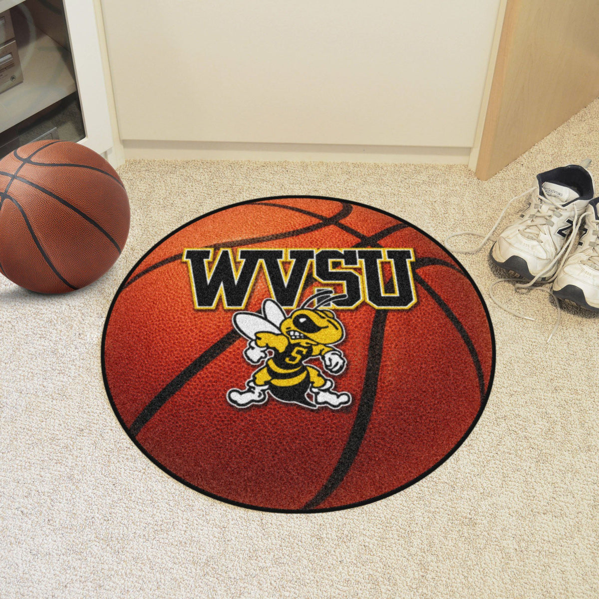Collegiate - Basketball Mat: T - Z Collegiate Mats, Rectangular Mats, Basketball Mat, Collegiate, Home Fan Mats West Virginia State