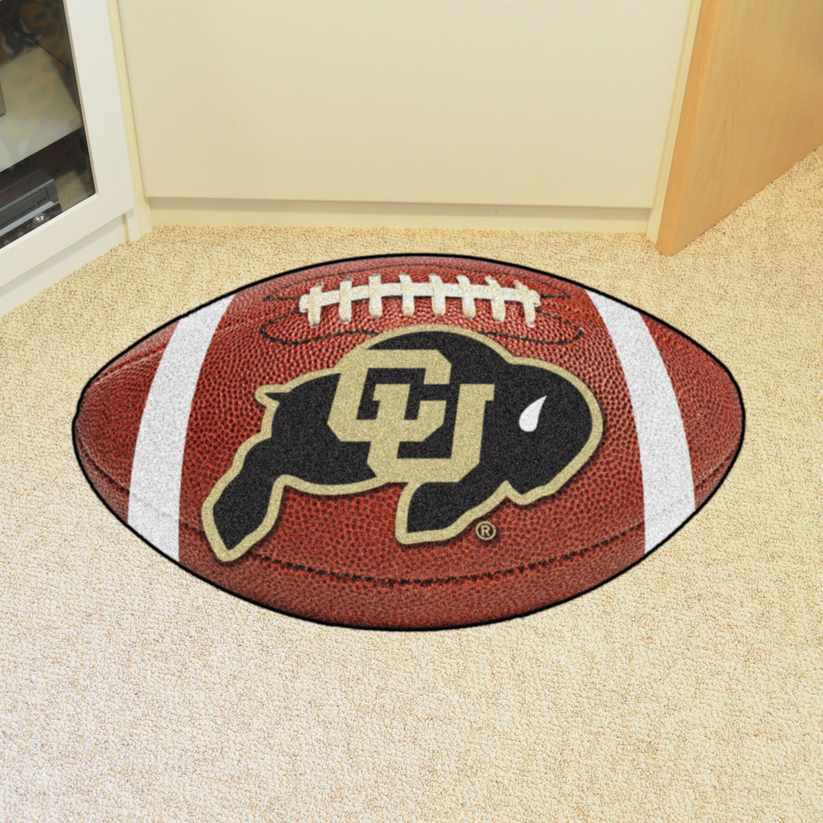 Collegiate - Football Mat: A - K Collegiate Mats, Rectangular Mats, Football Mat, Collegiate, Home Fan Mats Colorado