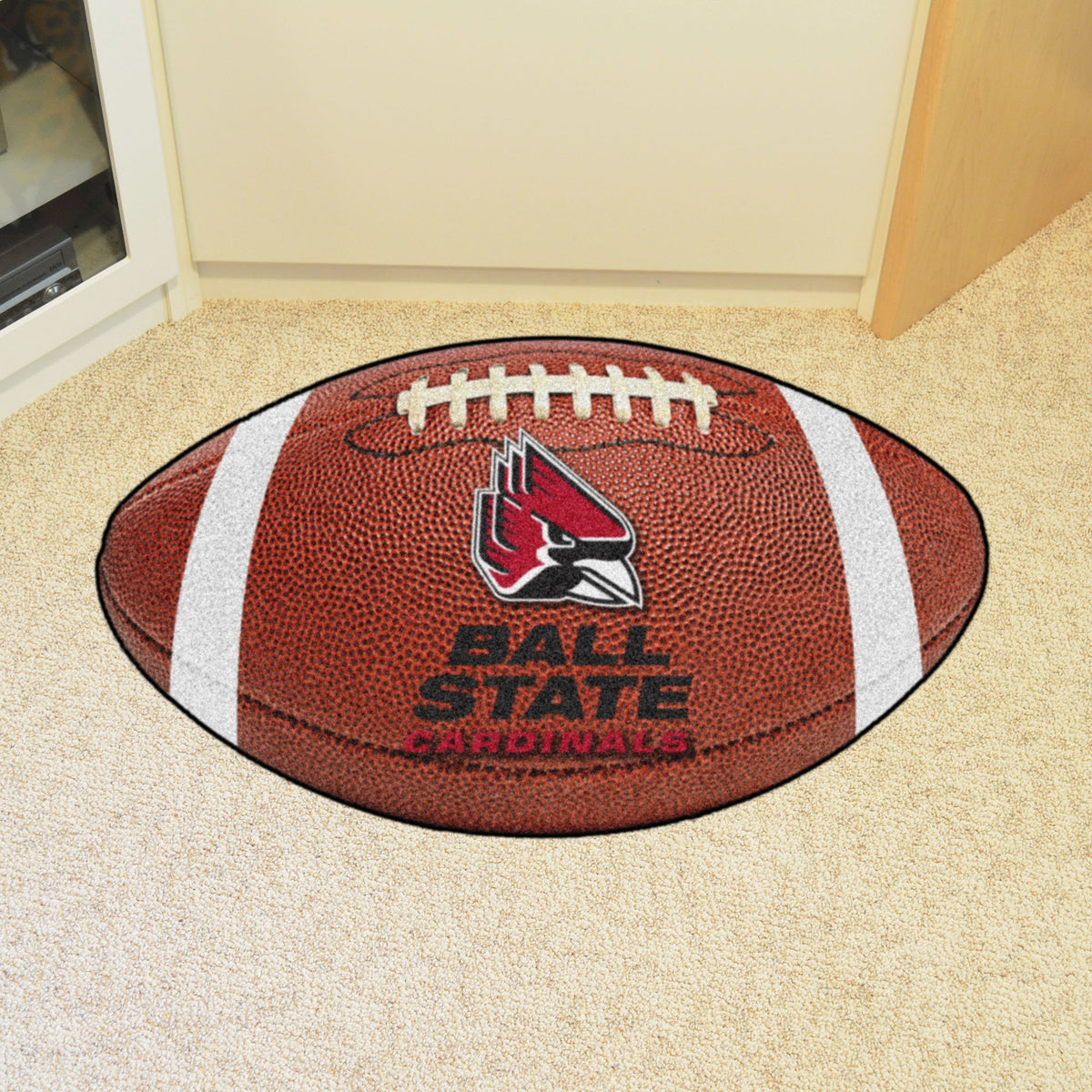 Collegiate - Football Mat: A - K Collegiate Mats, Rectangular Mats, Football Mat, Collegiate, Home Fan Mats Ball State