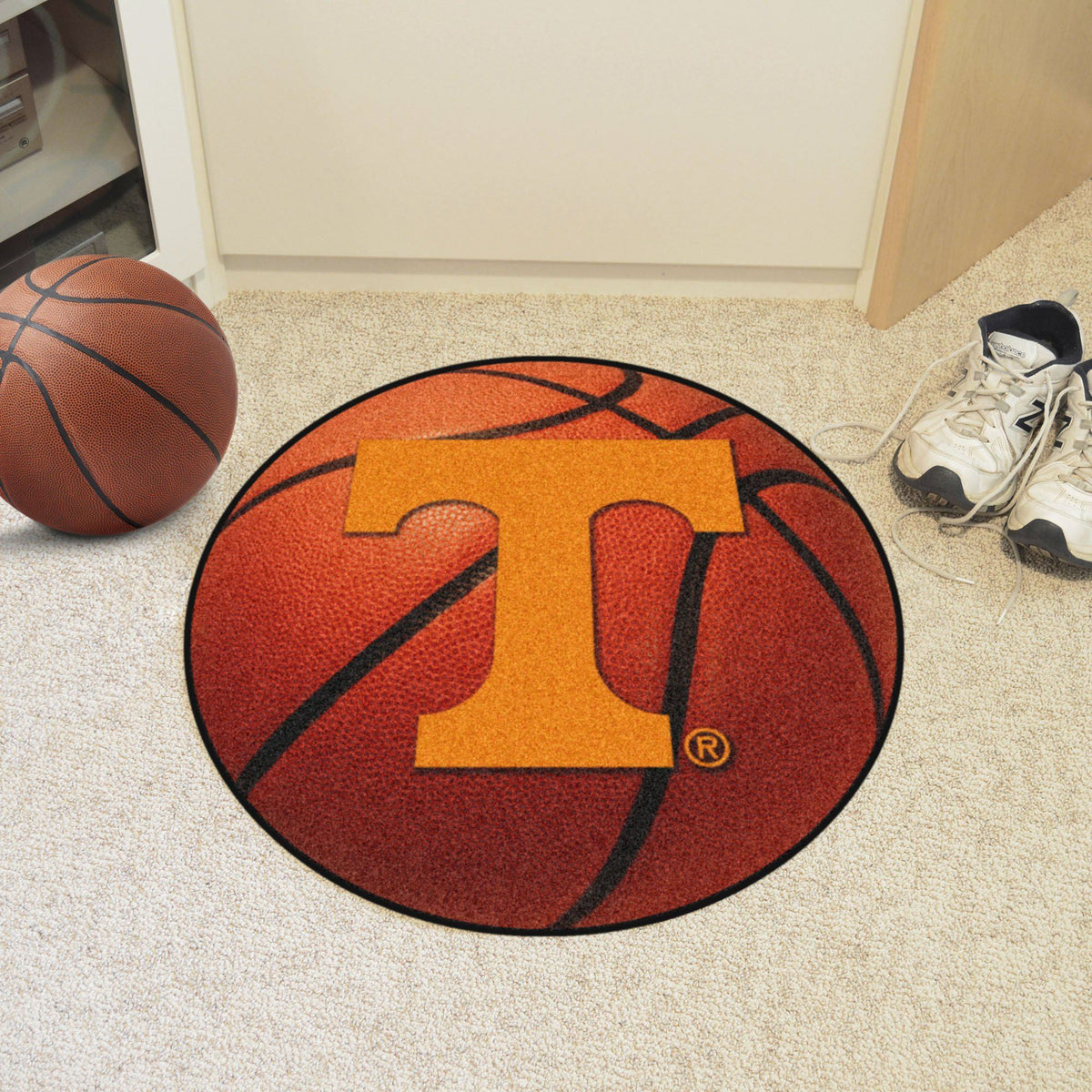 Collegiate - Basketball Mat: T - Z Collegiate Mats, Rectangular Mats, Basketball Mat, Collegiate, Home Fan Mats Tennessee
