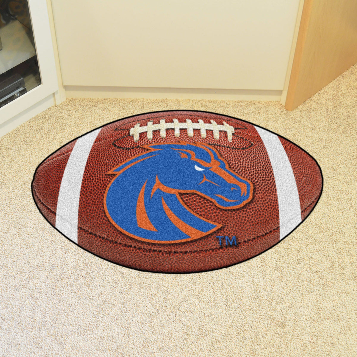 Collegiate - Football Mat: A - K Collegiate Mats, Rectangular Mats, Football Mat, Collegiate, Home Fan Mats Boise State