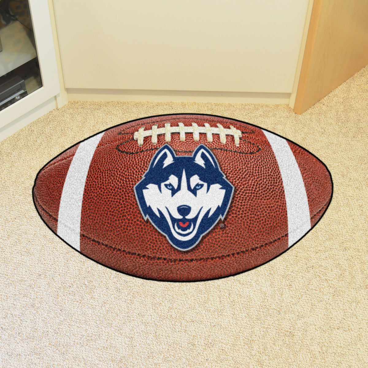 Collegiate - Football Mat: A - K Collegiate Mats, Rectangular Mats, Football Mat, Collegiate, Home Fan Mats Connecticut