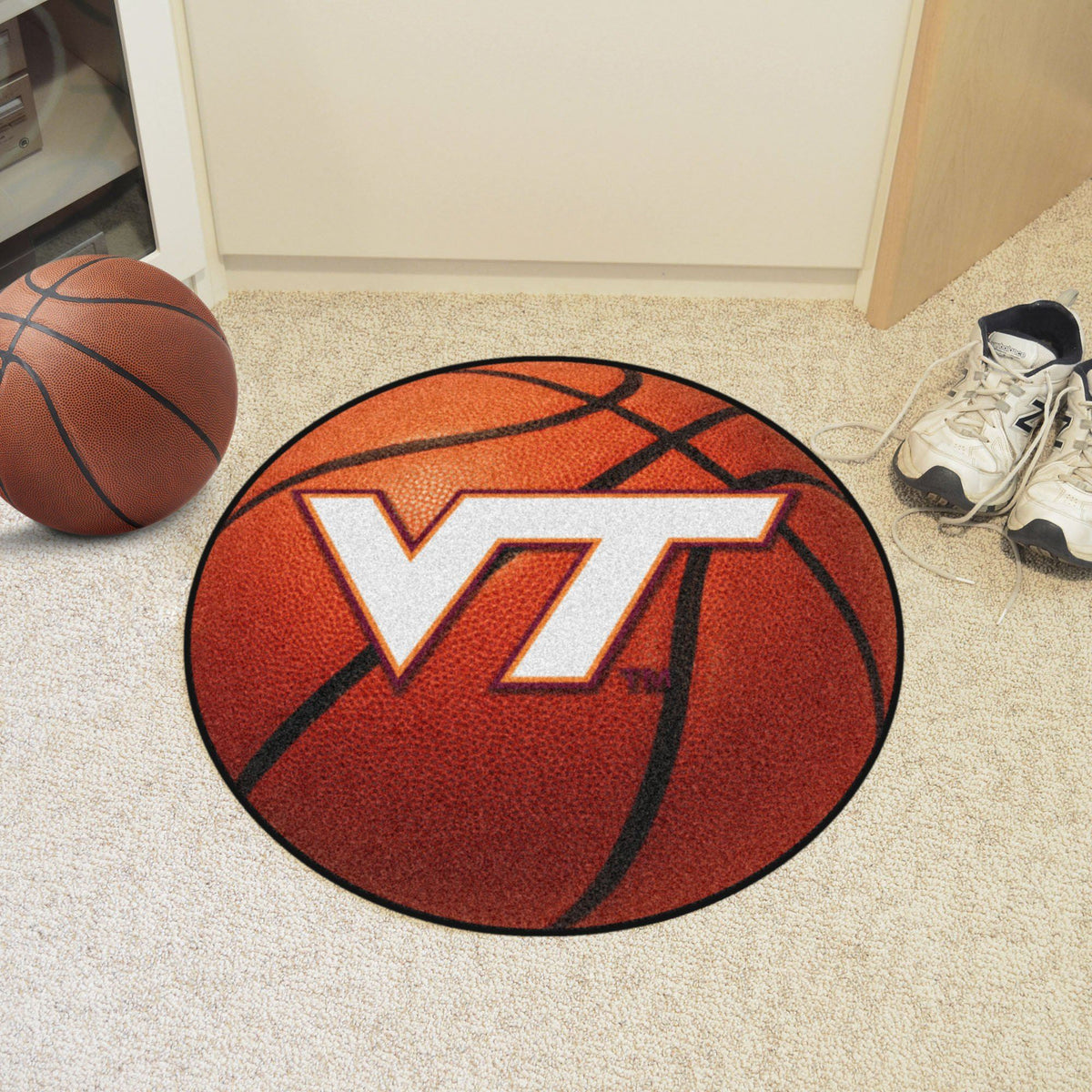 Collegiate - Basketball Mat: T - Z Collegiate Mats, Rectangular Mats, Basketball Mat, Collegiate, Home Fan Mats Virginia Tech