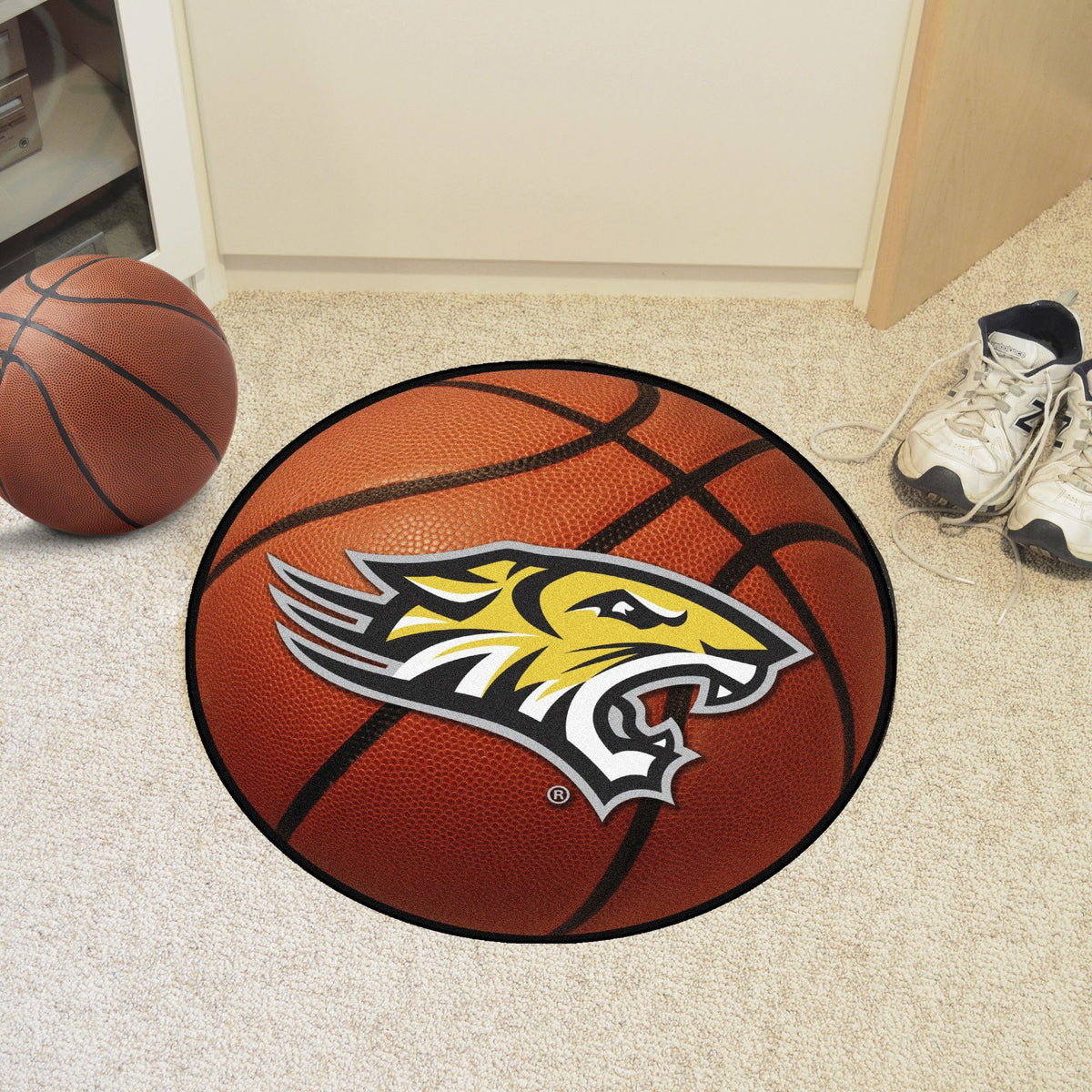 Collegiate - Basketball Mat: T - Z Collegiate Mats, Rectangular Mats, Basketball Mat, Collegiate, Home Fan Mats Towson