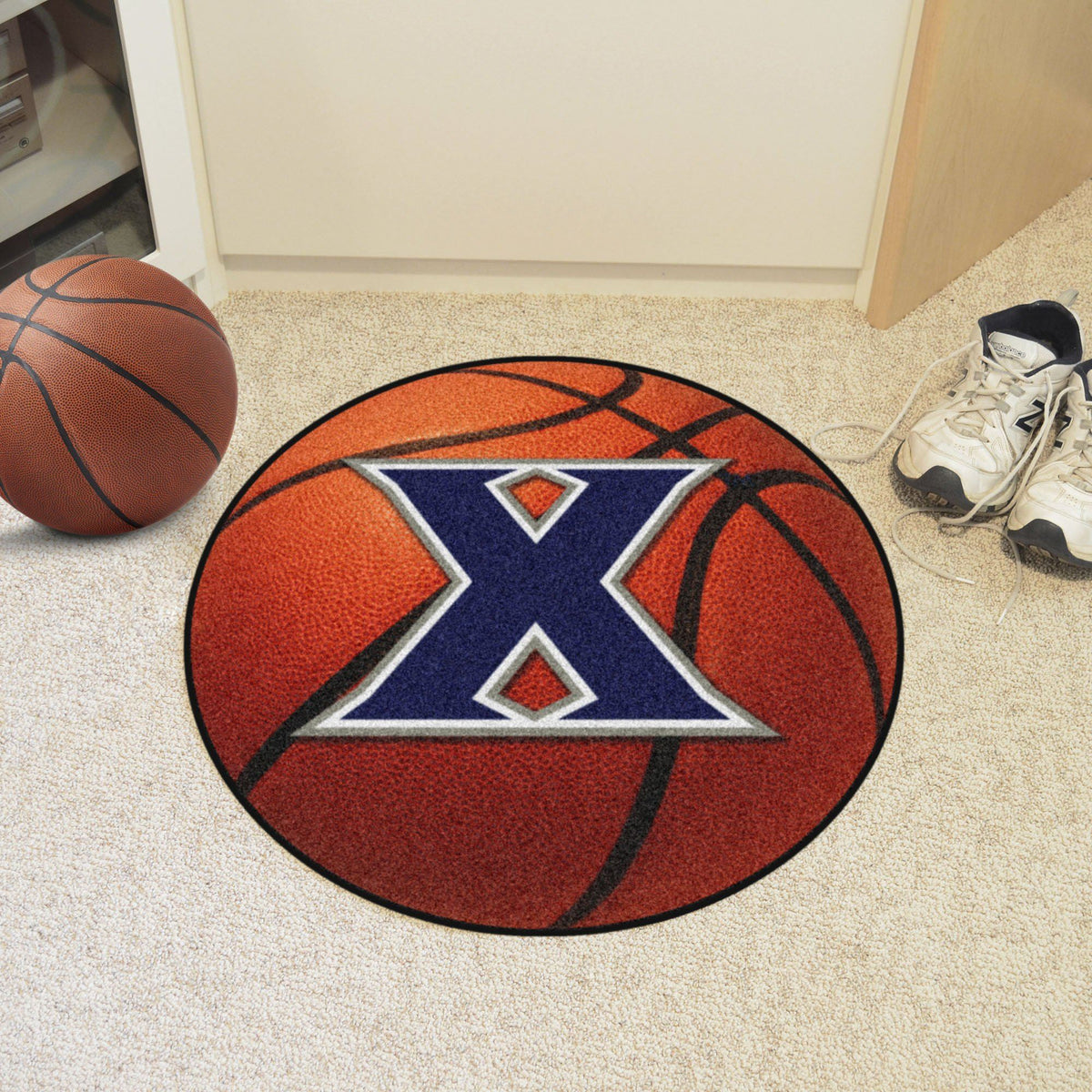 Collegiate - Basketball Mat: T - Z Collegiate Mats, Rectangular Mats, Basketball Mat, Collegiate, Home Fan Mats Xavier