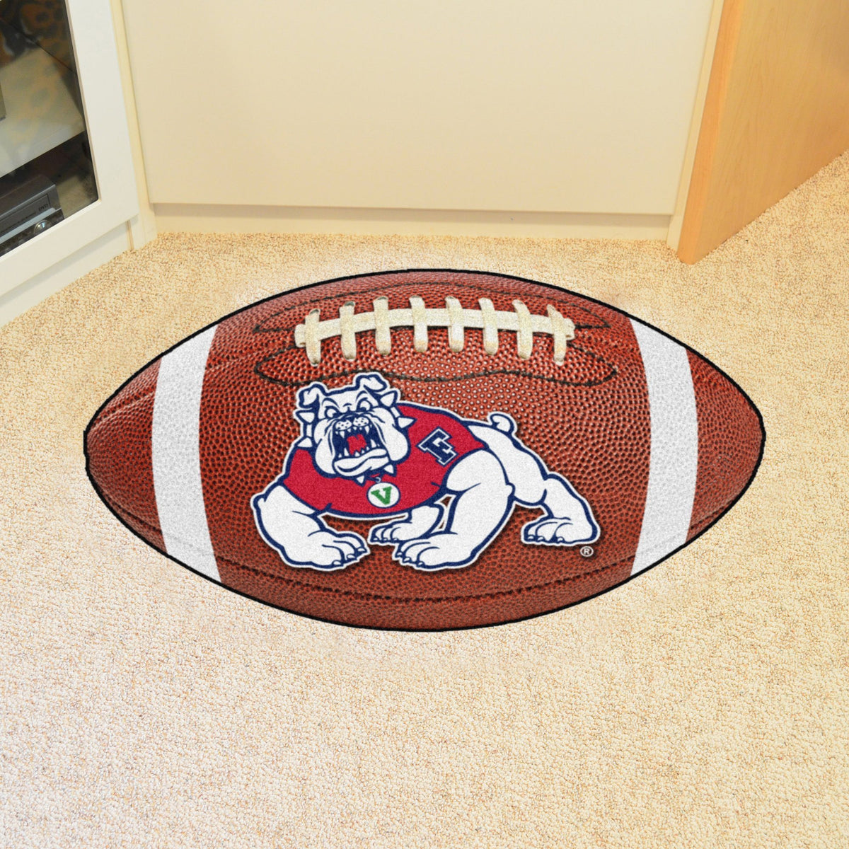 Collegiate - Football Mat: A - K Collegiate Mats, Rectangular Mats, Football Mat, Collegiate, Home Fan Mats Fresno State