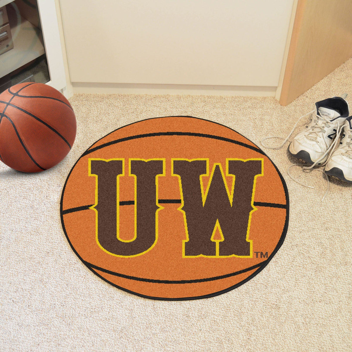 Collegiate - Basketball Mat: T - Z Collegiate Mats, Rectangular Mats, Basketball Mat, Collegiate, Home Fan Mats Wyoming 2