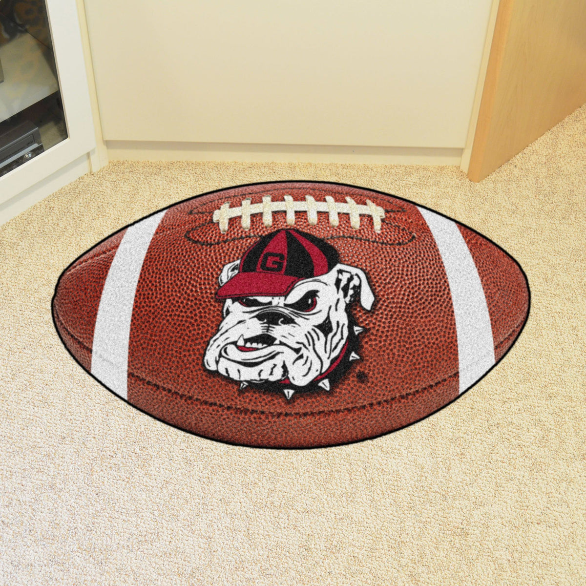 Collegiate - Football Mat: A - K Collegiate Mats, Rectangular Mats, Football Mat, Collegiate, Home Fan Mats Georgia 2