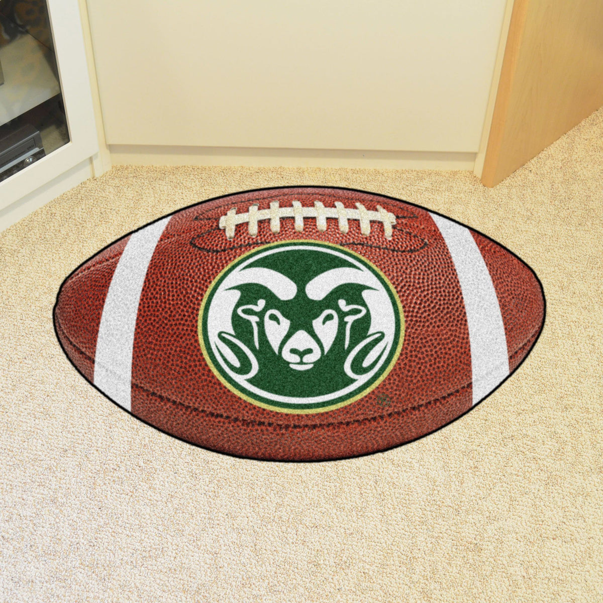 Collegiate - Football Mat: A - K Collegiate Mats, Rectangular Mats, Football Mat, Collegiate, Home Fan Mats Colorado State 2