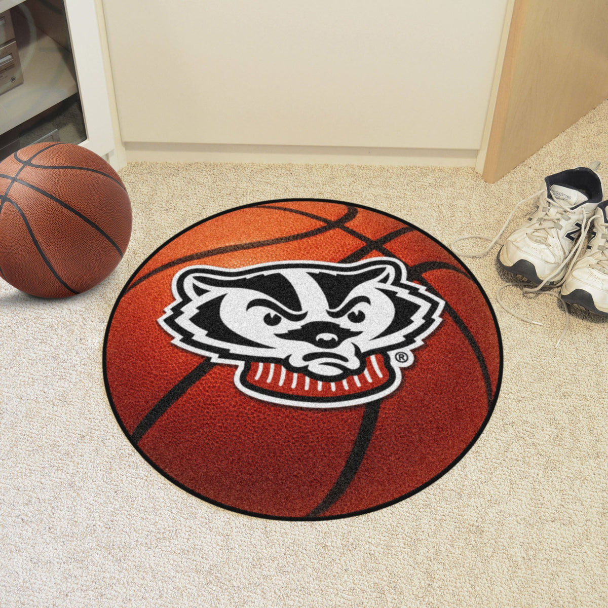 Collegiate - Basketball Mat: T - Z Collegiate Mats, Rectangular Mats, Basketball Mat, Collegiate, Home Fan Mats Wisconsin 2