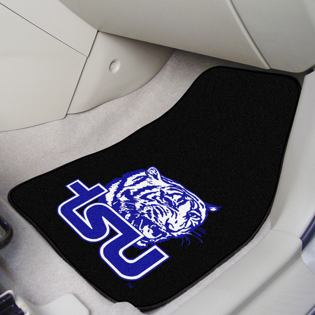 Collegiate - Carpet Car Mat, 2-Piece Set: T - Z Collegiate Car Mat, Front Car Mats, 2-pc Carpet Car Mat Set, Collegiate, Auto Fan Mats Tennessee State