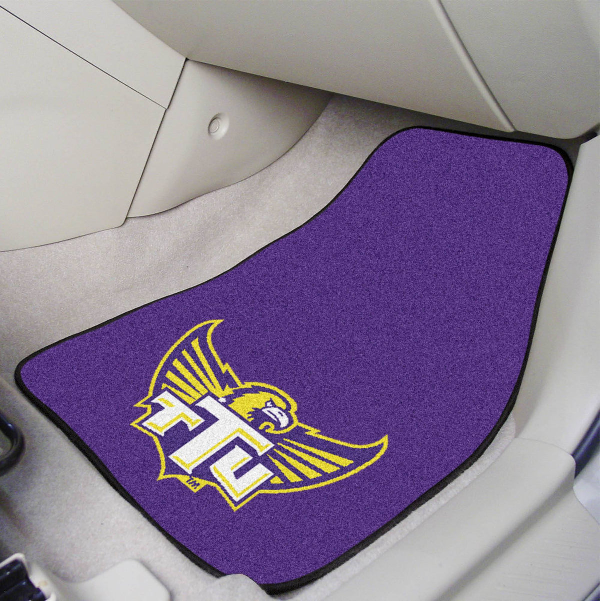 Collegiate - Carpet Car Mat, 2-Piece Set: T - Z Collegiate Car Mat, Front Car Mats, 2-pc Carpet Car Mat Set, Collegiate, Auto Fan Mats Tennessee Tech