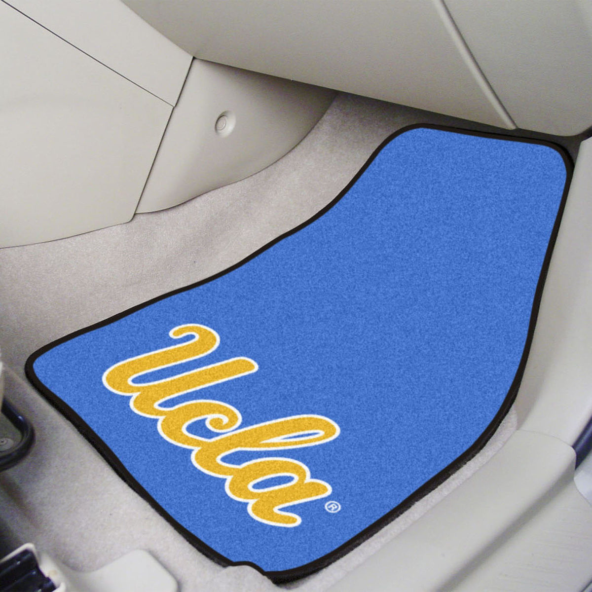 Collegiate - Carpet Car Mat, 2-Piece Set: T - Z Collegiate Car Mat, Front Car Mats, 2-pc Carpet Car Mat Set, Collegiate, Auto Fan Mats UCLA