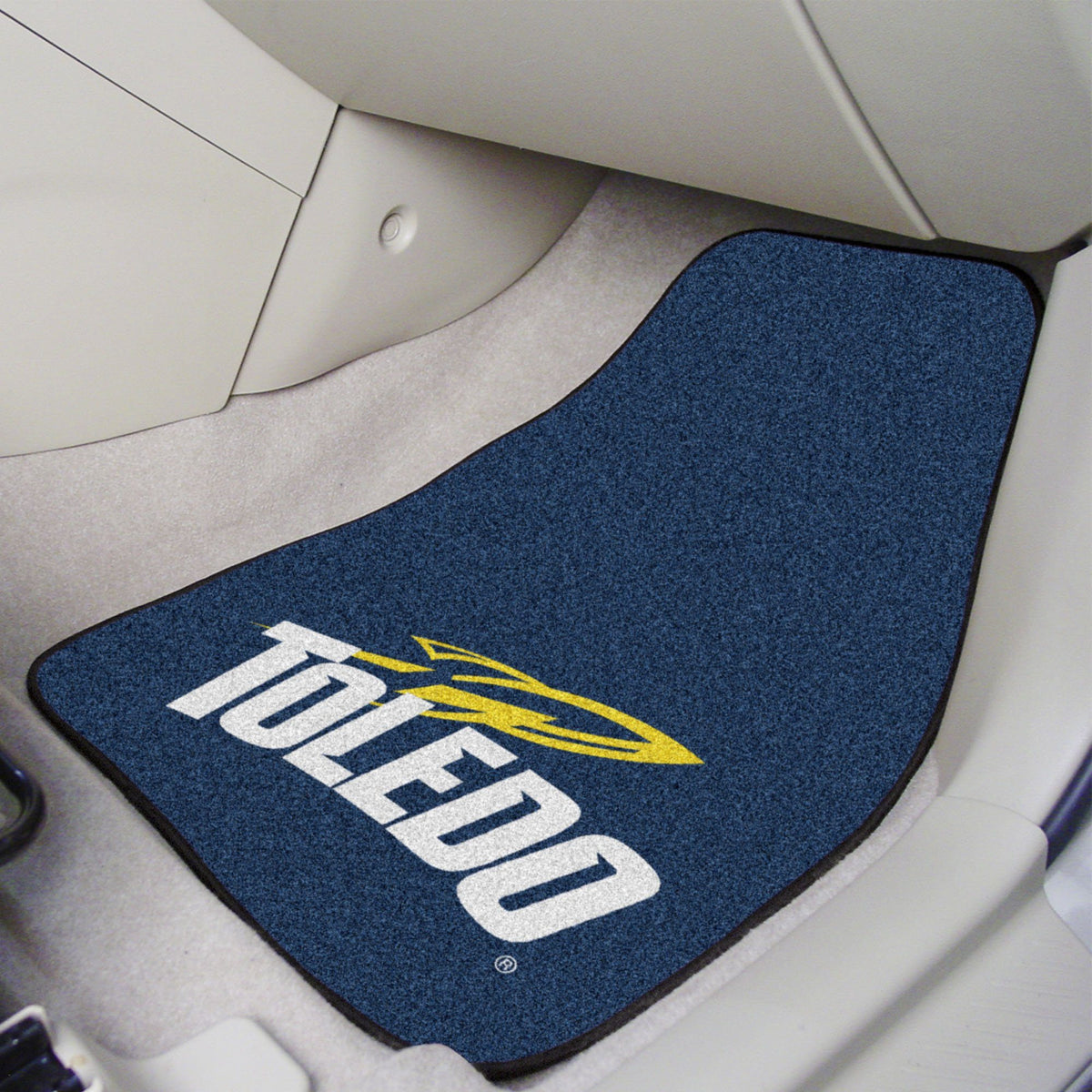 Collegiate - Carpet Car Mat, 2-Piece Set: T - Z Collegiate Car Mat, Front Car Mats, 2-pc Carpet Car Mat Set, Collegiate, Auto Fan Mats Toledo