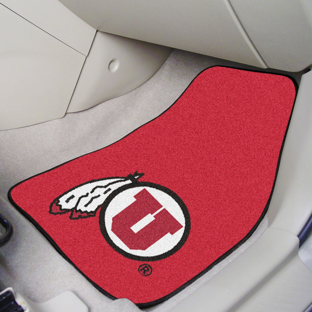 Collegiate - Carpet Car Mat, 2-Piece Set: T - Z Collegiate Car Mat, Front Car Mats, 2-pc Carpet Car Mat Set, Collegiate, Auto Fan Mats Utah