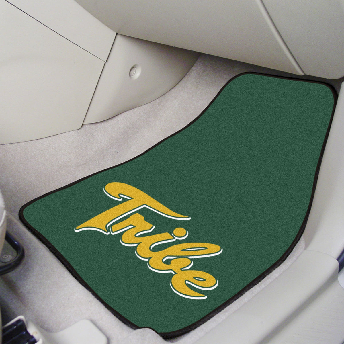 Collegiate - Carpet Car Mat, 2-Piece Set: T - Z Collegiate Car Mat, Front Car Mats, 2-pc Carpet Car Mat Set, Collegiate, Auto Fan Mats William & Mary